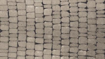 Grey stone wall.