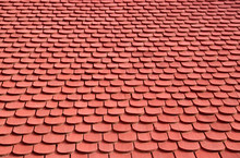 Wooden Shingled Roof Background