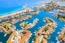 View Of Colorful Houses And Boats In Port Grimaud During Summer Day-Port Grimaud, France