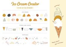 Big Vector Set Of Ice-cream El...