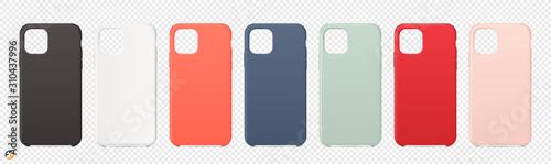 Realistic cases for smartphone on transparent background Billede på lærred