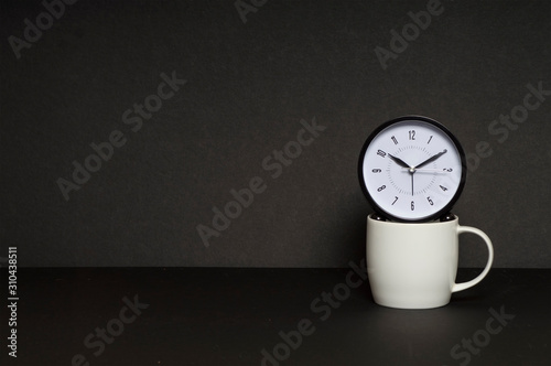 Break Time Coffee cup with clock concept Fototapete