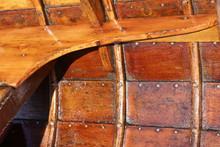 Hölzernes Ruderboot, Detail,
