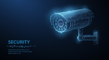 Security Camera. Vector Low Po...