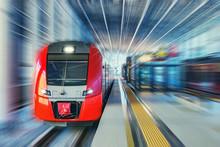 Passenger High Speed Train Mov...