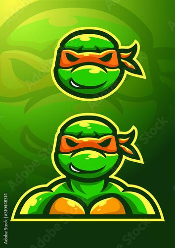 Fotografie, Obraz stock vector ninja turtle mascot logo set
