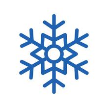Blue Snowflake Of Winter Season Vector Design