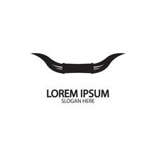 Bull Horn Logo And Symbol Temp...