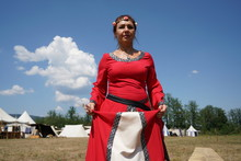 Woman In Medieval Robes Photog...