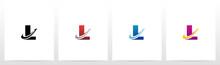 Swoosh Arrow Lines Letter Logo...