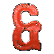 Symbol Ampersand Made Of Red P...
