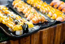 Grilled Sweet Egg Sushi With S...