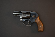 Black Snubnose Revolver Isolat...