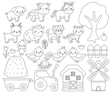 Coloring Page For Children. Cu...