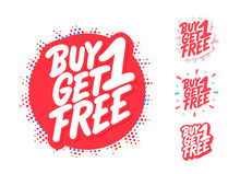 Buy One Get One Free. Vector L...