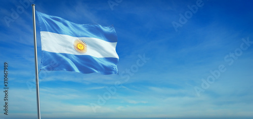 Photo The National flag of Argentina