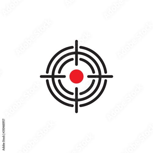 Fotografía  Shooting range target design, vector