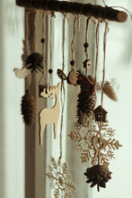 Wooden Christmas Decor On A P...