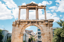 Arch Of Hadrian, Ancient Ruins In Athens, Greece