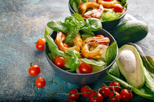 Close-up Appetizing Salad With...