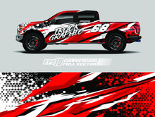 Vehicle Wrap Design Vector. Gr...