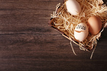 Cracked Eggs 2020 In A Basket