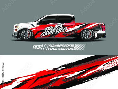 Fotografia, Obraz Vehicle wrap design vector