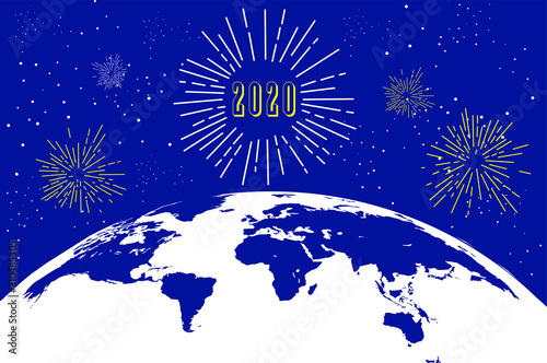 welcome to the world new year 2020 Fototapet