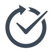 Vector icon that illustrates easy effectiveness. Check or testing of any process or thing simple outline pictogram.