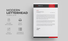 Abstract Letterhead Design Tem...