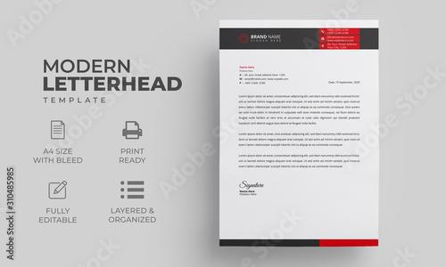 Fototapeta Abstract Letterhead Design Template obraz