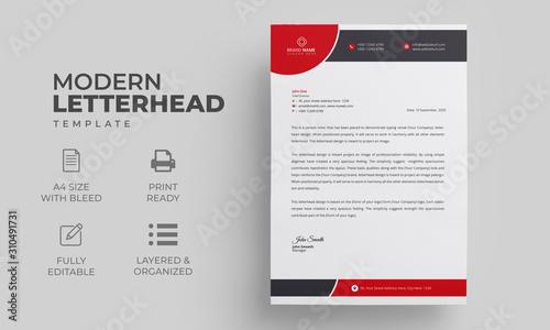 Fototapeta Letterhead Design for your business obraz