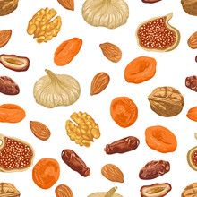 Dried Fruits And Nuts Seamless...