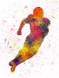 American football player 01 in watercolor