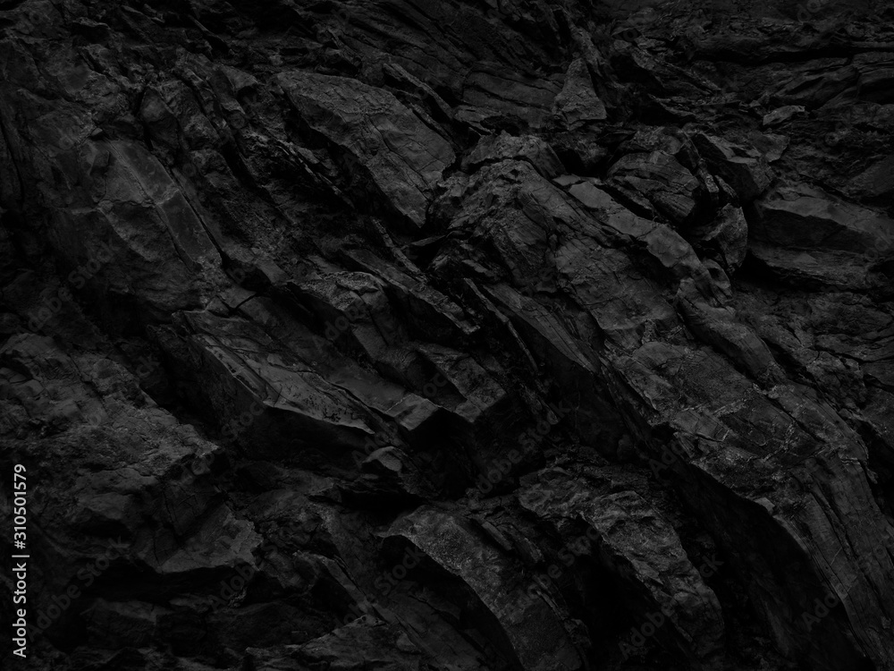 Fototapeta Black and white background. Abstract grunge background. Black stone background. Dark gray rock texture. Distrusted backdrop.