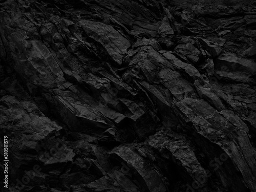 Black and white background. Abstract grunge background. Black stone background. Dark gray rock texture. Distrusted backdrop.