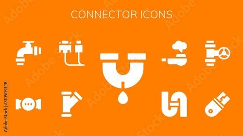 Cuadros en Lienzo  connector icon set