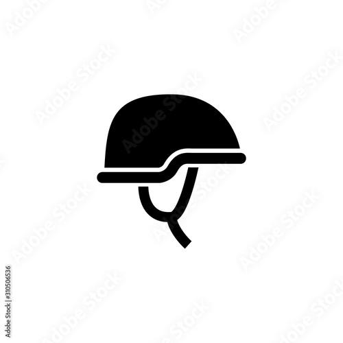 Cuadros en Lienzo  Army helmet and protective gear glyph icon