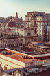 View from the roofs of the streets of Havana in Cuba