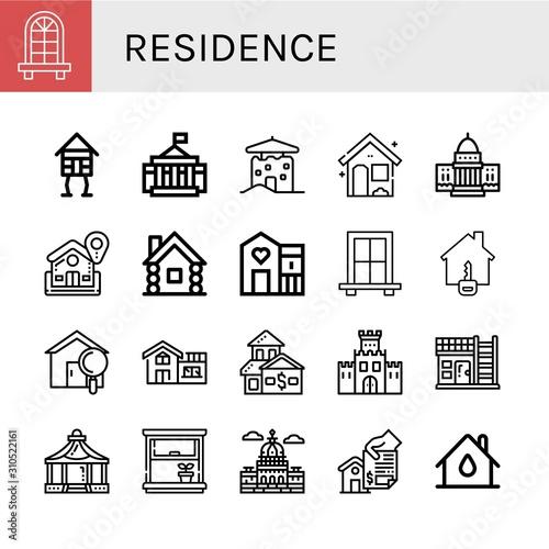 Fototapeta  residence simple icons set