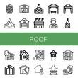 roof icon set