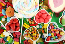 Candies With Jelly And Sugar. ...