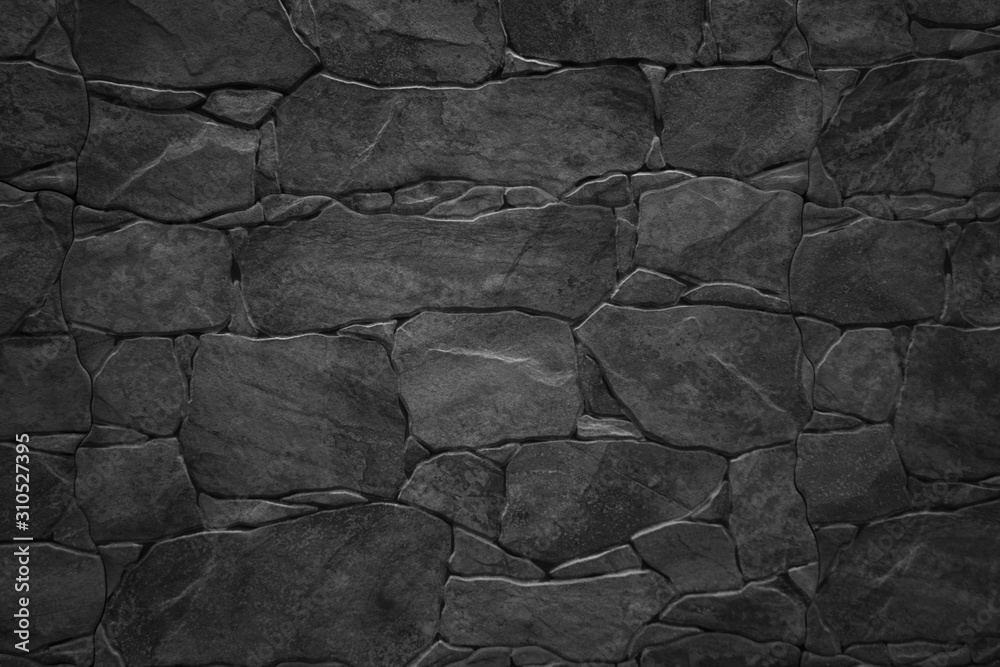 Fototapeta Black stone wall