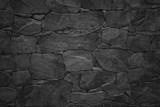Fototapeta Kamienie - Black stone wall