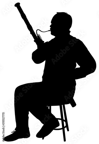 Photo man who plays the bassoon
