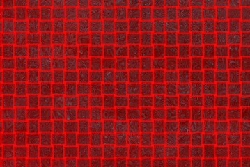 red  texture and illustration of abstract distortion on a square
