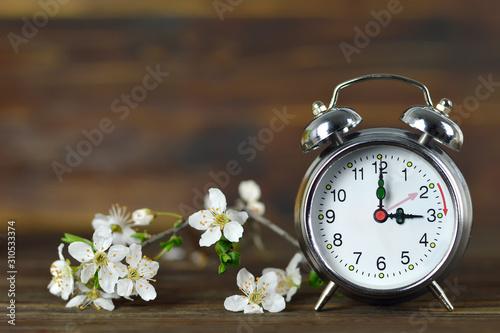 Leinwand Poster Spring forward. Summer time change. Daylight Saving Time