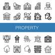 Set of property icons
