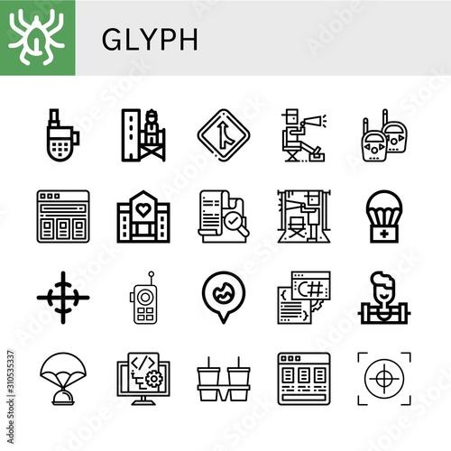 glyph icon set Canvas Print