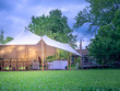 canvas print picture - Image of huge white tent for a wedding event in the nature